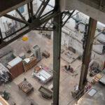 Kesselhaus von Kohlenschütte aus nach unten